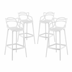 Modway Entangled Bar Stools Set of 4 in White MY-EEI-2402-WHI-SET