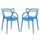 Modway Entangled Dining Chairs Set of 2 in Blue MY-EEI-2347-BLU-SET