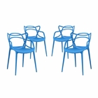 Modway Entangled Dining Chairs Set of 4 in Blue MY-EEI-2348-BLU-SET