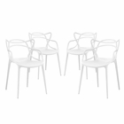 Modway Entangled Dining Chairs Set of 4 in White MY-EEI-2348-WHI-SET