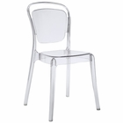 Modway Entreat Dining Side Chair in Clear MY-EEI-1070-CLR