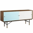 Modway Envoy Walnut Stand in Walnut White MY-EEI-2238-WAL-WHI