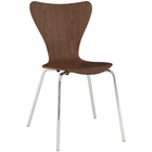 Modway Ernie Dining Side Chair in Walnut MY-EEI-537-WAL