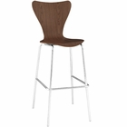 Modway Ernie Wood Bar Stool in Walnut MY-EEI-538-WAL