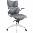 Modway Escape Mid Back Faux Leather Office Chair in Gray MY-EEI-1028-GRY