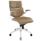 Modway Escape Mid Back Faux Leather Office Chair in Tan MY-EEI-1028-TAN