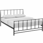Modway Estate King Steel Bed in Brown MY-MOD-5483-BRN