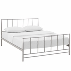 Modway Estate King Steel Bed in Gray MY-MOD-5483-GRY