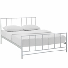 Modway Estate King Steel Bed in White MY-MOD-5483-WHI