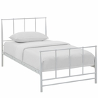 Modway Estate Twin Steel Bed in White MY-MOD-5480-WHI