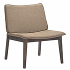 Modway Evade Upholstered Fabric Lounge Chair in Walnut Latte MY-EEI-1612-WAL-LAT