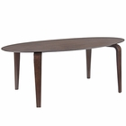 Modway Event Oval Wood Dining Table in Walnut MY-EEI-1629-WAL