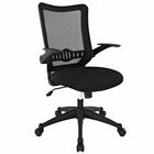 Modway Explorer Mid Back Mesh Office Chair in Black MY-EEI-1104-BLK