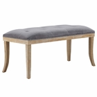 Modway Expression Velvet Bench in Gray MY-EEI-2574-GRY