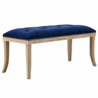 Modway Expression Velvet Bench in Navy MY-EEI-2574-NAV
