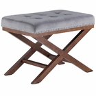 Modway Facet Velvet Bench in Gray MY-EEI-2571-GRY