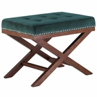 Modway Facet Velvet Bench in Green MY-EEI-2571-GRN