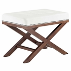 Modway Facet Velvet Bench in Ivory MY-EEI-2571-IVO