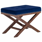 Modway Facet Velvet Bench in Navy MY-EEI-2571-NAV