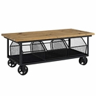 Modway Fairground Pine Wood and Steel Coffee Table in Brown MY-EEI-2644-BRN