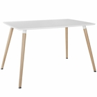 Modway Field Rectangle Dining Table in White MY-EEI-1056-WHI