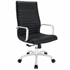 Modway Finesse Highback Faux Leather Office Chair in Black MY-EEI-1061-BLK