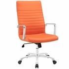 Modway Finesse Highback Faux Leather Office Chair in Orange MY-EEI-1061-ORA