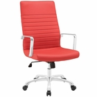 Modway Finesse Highback Faux Leather Office Chair in Red MY-EEI-1061-RED
