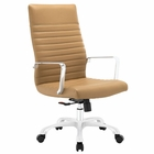 Modway Finesse Highback Faux Leather Office Chair in Tan MY-EEI-1061-TAN