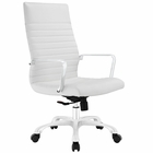 Modway Finesse Highback Faux Leather Office Chair in White MY-EEI-1061-WHI