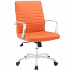 Modway Finesse Mid Back Faux Leather Office Chair in Orange MY-EEI-1534-ORA