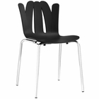 Modway Flare Dining Side Chair in Black MY-EEI-1496-BLK