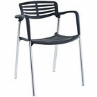 Modway Fleet Stacking Chair in Black MY-EEI-236-BLK
