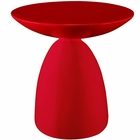 Modway Flow Fiberglass Side Table in Red MY-EEI-1101-RED