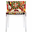 Modway Flower Dining Upholstered Fabric Side Chair in Clear MY-EEI-553-CLR