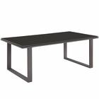 Modway Fortuna Outdoor Patio Aluminum Coffee Table in Brown MY-EEI-1516-BRN-SET