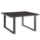 Modway Fortuna Outdoor Patio Aluminum Side Table in Brown MY-EEI-1515-BRN-SET