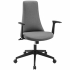 Modway Fount Mid Back Vinyl Office Chair in Gray MY-EEI-1524-GRY