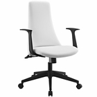 Modway Fount Mid Back Vinyl Office Chair in White MY-EEI-1524-WHI
