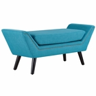 Modway Gambol Upholstered Fabric Bench in Pure Water MY-EEI-2575-PUR