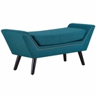 Modway Gambol Upholstered Fabric Bench in Teal MY-EEI-2575-TEA