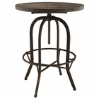Modway Gather 5 Piece Pine Wood and Iron Dining Set in Brown MY-EEI-1608-BRN-SET