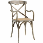 Modway Gear Dining Wood Armchair in Gray MY-EEI-1538-GRY