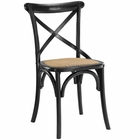 Modway Gear Dining Wood Side Chair in Black MY-EEI-1541-BLK