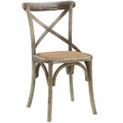 Modway Gear Dining Wood Side Chair in Gray MY-EEI-1541-GRY