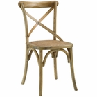 Modway Gear Dining Wood Side Chair in Natural MY-EEI-1541-NAT
