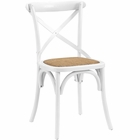 Modway Gear Dining Wood Side Chair in White MY-EEI-1541-WHI