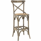 Modway Gear Wood Bar Stool in Gray MY-EEI-1540-GRY