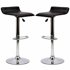 Modway Gloria Bar Stools Faux Leather Set of 2 in Black MY-EEI-937-BLK