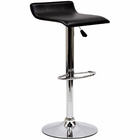 Modway Gloria Faux Leather Bar Stool in Black MY-EEI-579-BLK